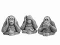 Set apen horen/zien/zwijgen